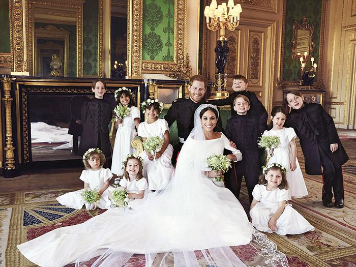 Общее фото в день свадьбы Гарри и Меган.