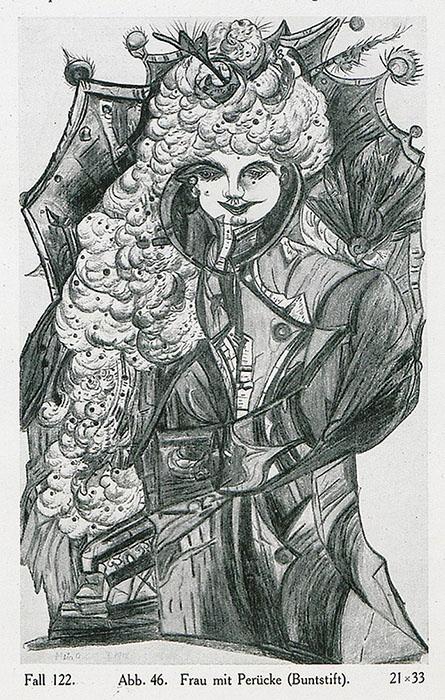 «Женщина в парике», карандаш.