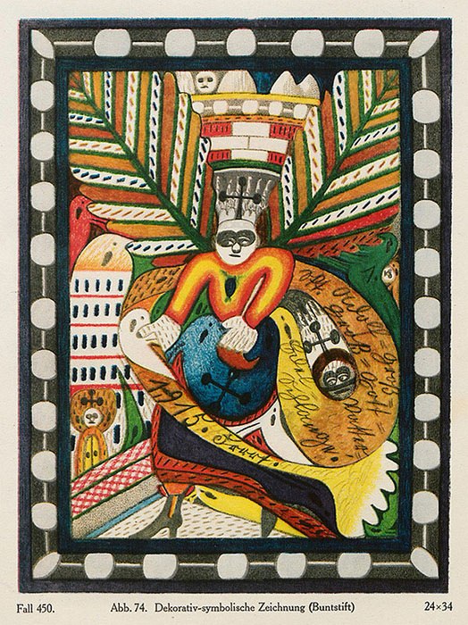 «Декоративно-символический рисунок», карандаш.
