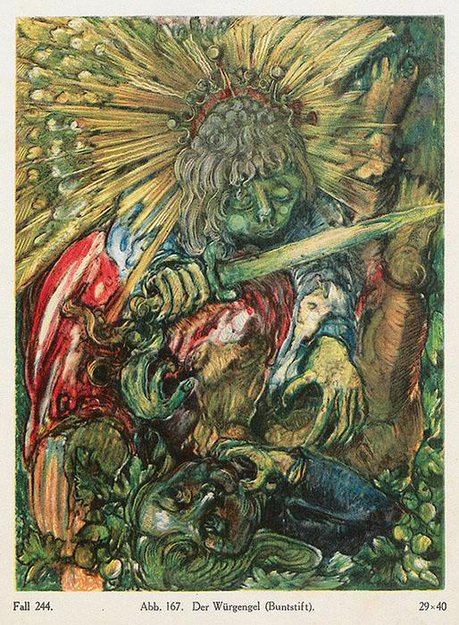 «Ангел-мститель», карандаш.
