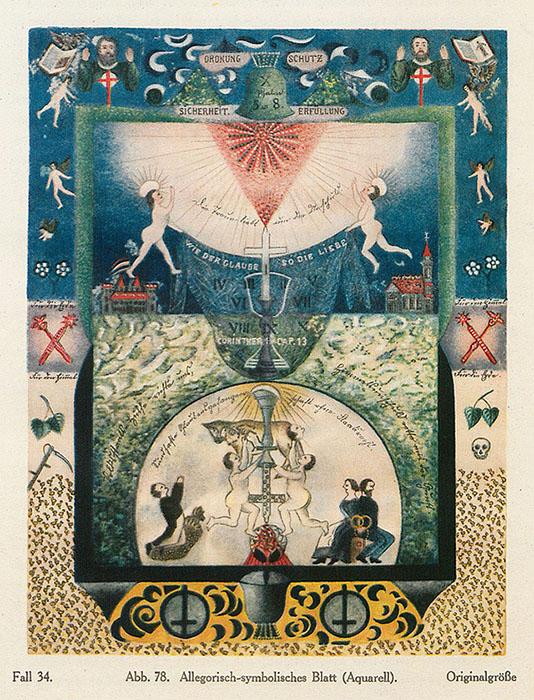 «Аллегорически-символическая работа», акварель.