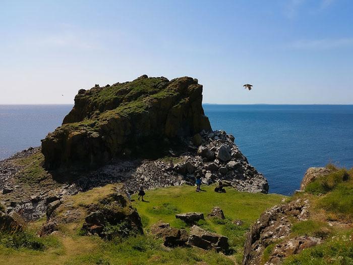 Летящий тупик над шотландскими островами.