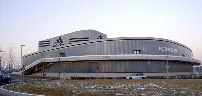 Штаб-квартира Adidas в городе ХерцогенаураÑ.