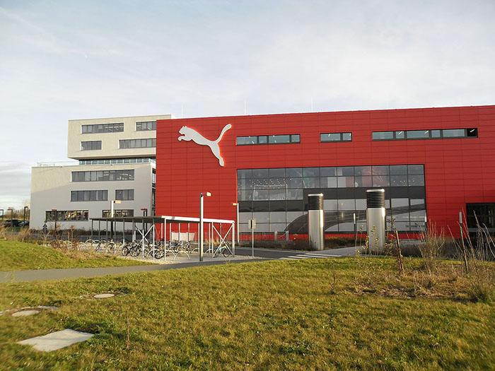 Штаб-квартира Puma в городе ХерцогенаураÑ.