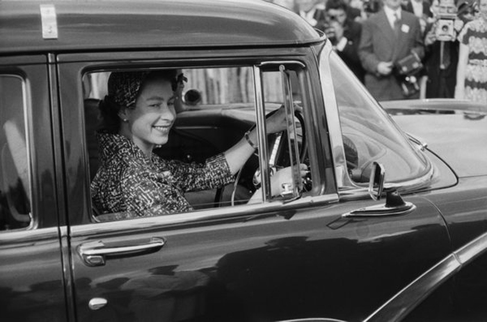 Королева посещает матч по поло в Виндзоре. Август 1958 г.