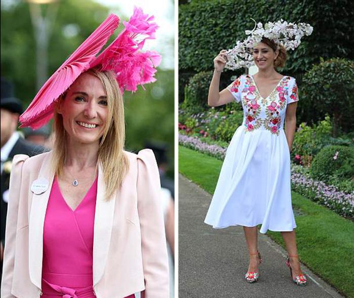 Розовые цветы и розовые перья - в этом году розовый цвет был определенно в тренде.