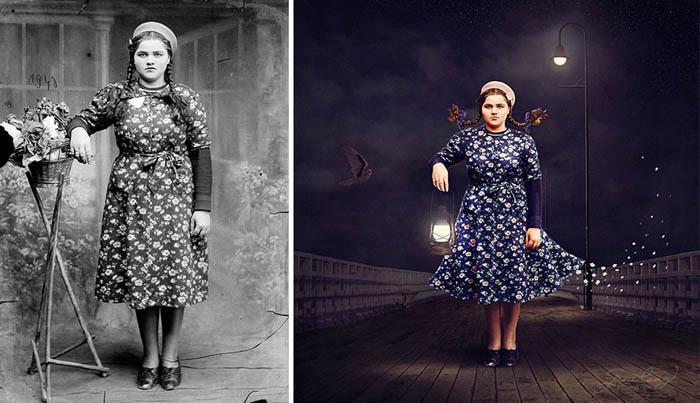Работа «Сигнальный фонарь» на основе фотографии Костикэ Аксинте.