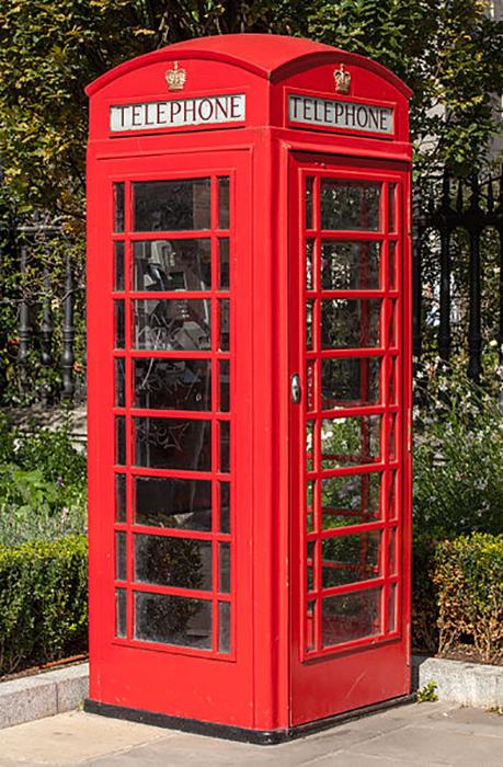 Красная телефонная будка К2.
