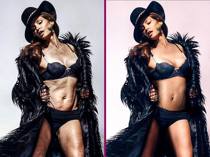 Фотографии со знаменитостями и моделями регулярно подвергаются обработке.