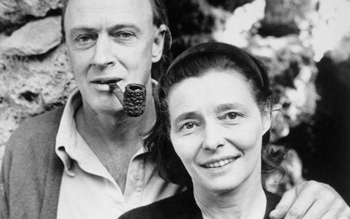Роальд Даль со своей женой.