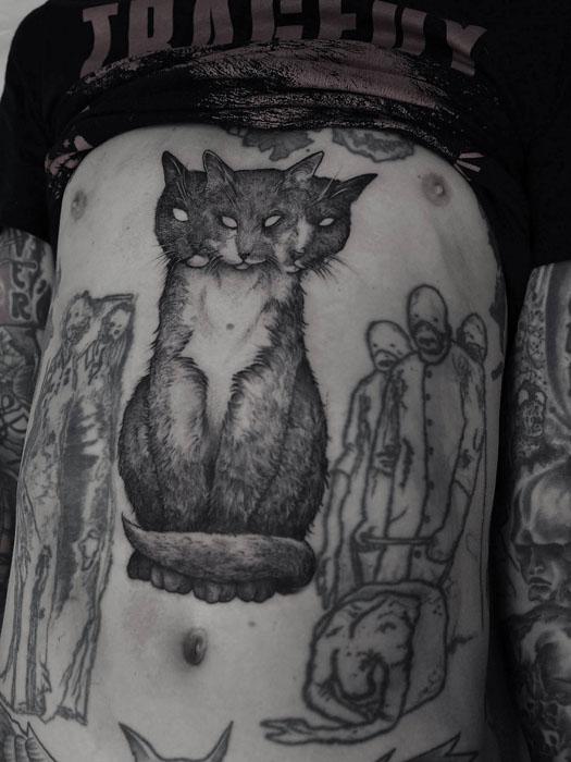 Трехголовый кот, которого сделал  Robert Borbas для своего друга.