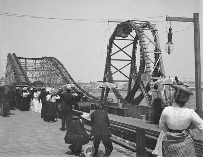 Амерканские горки, 1900 год.