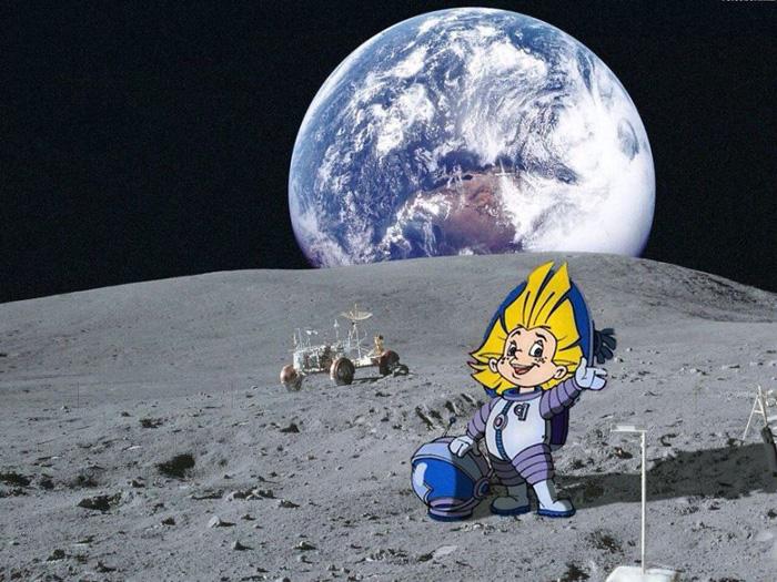 Незнайка на Луне.