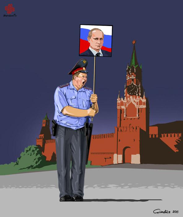 Упитанность русских полицейских широко известна в интернете.
