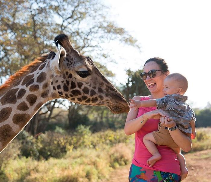 Натали в Африке.