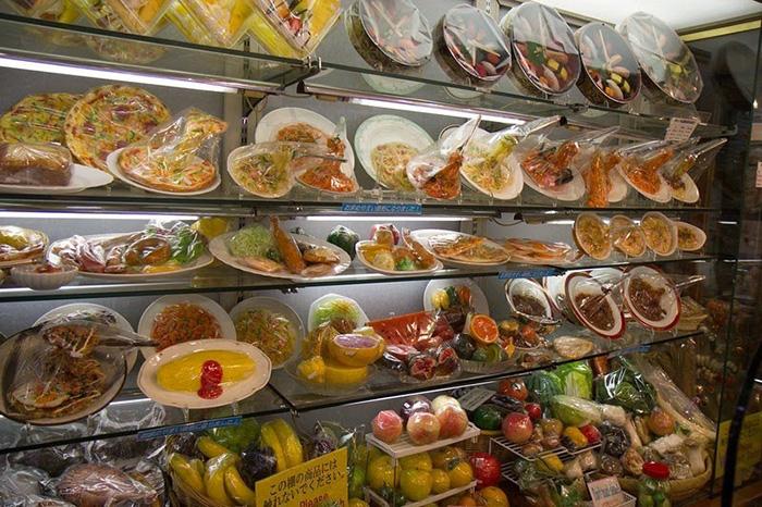 Пластиковая еда в Японии очень популярна.