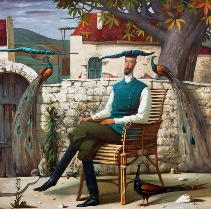 Сад с павлинами. Автор: Игорь Самсонов.