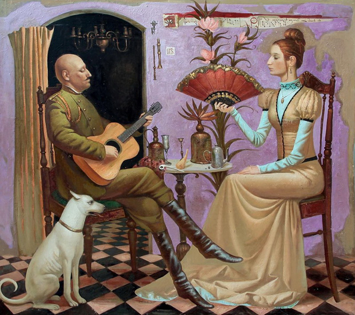 Игра на гитаре. Автор: Игорь Самсонов.