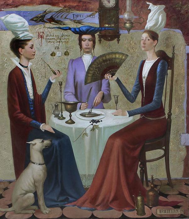 Трое за столом. Автор: Игорь Самсонов.