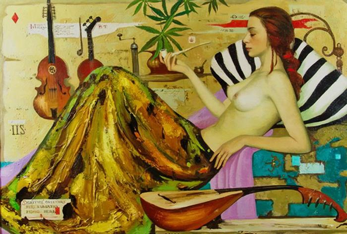 Дама с трубкой. Автор: Игорь Самсонов.