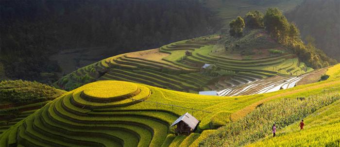 Hermoso paisaje en la lente Saravuta Intaroba.