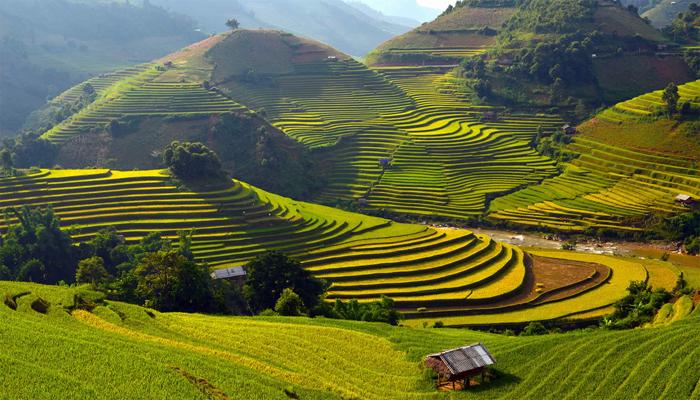 Сказочные пейзажи во Вьетнаме.