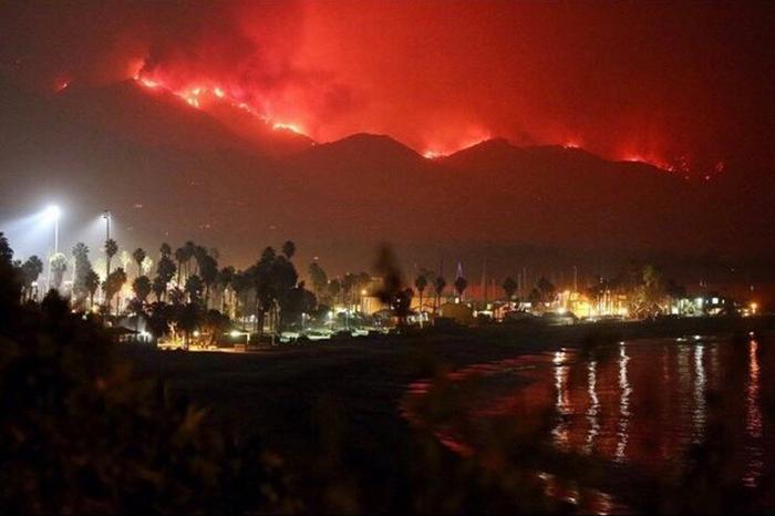 Пожары в Калифорнии.