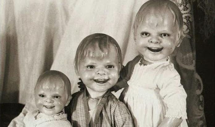 Жуткие старинные куклы.