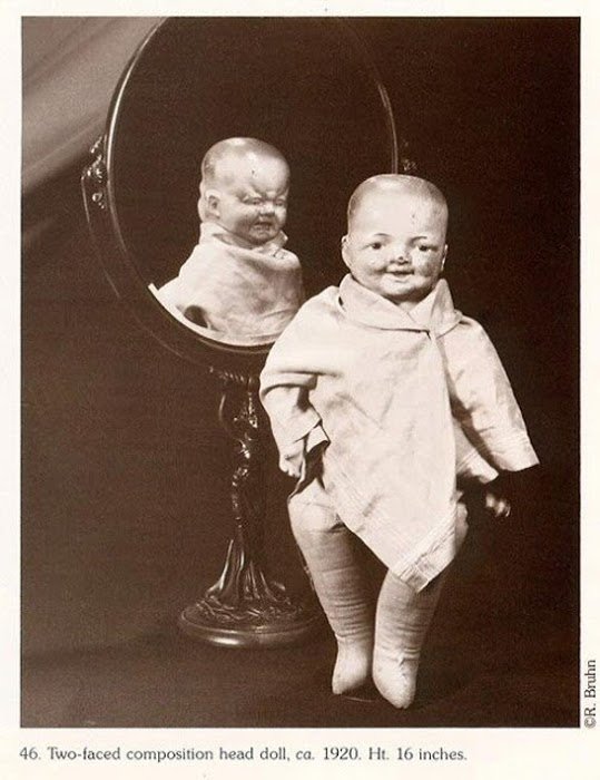 Кукла с двумя лицами, ок. 1920.