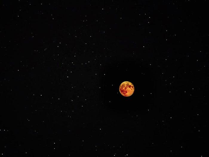 Затмение вовремя максимального приближения Луны кЗемле случилось 21января 2019года. Фото: Mary Anne Chilton.