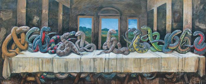 *Ужин змей* по мотивам картины Да Винчи.