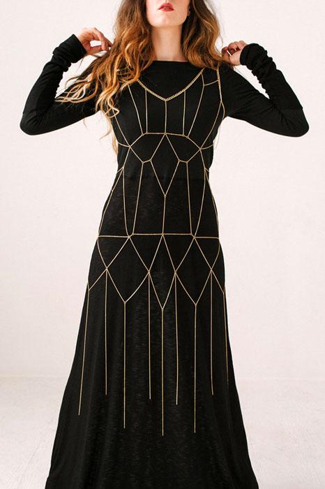 Платье с цепочками Gatsby.  Автор: Iron Oxide.