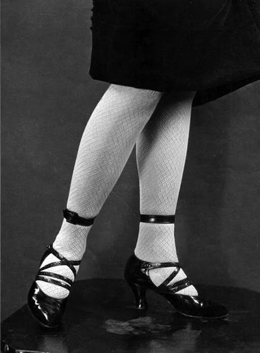 Лаковые туфли на каблуке.