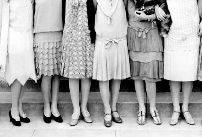Разнообразные туфли в 1920-х гг.