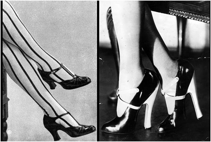 Модные туфли в 1920-х.