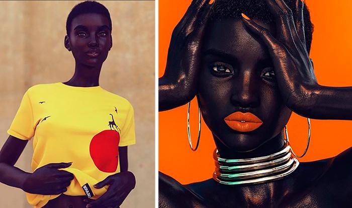 Шуду, африканская модель, существующая только в Инстаграме.