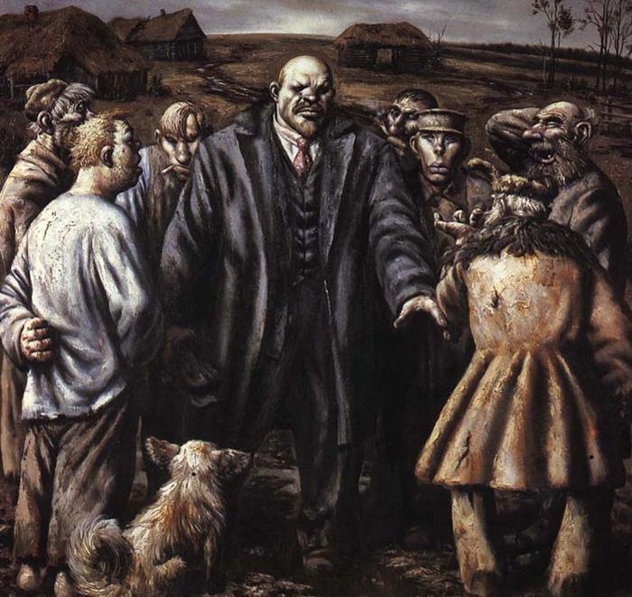 Ленин и крестьяне.  Автор: Василий Шульженко.