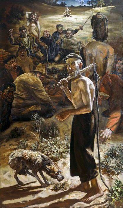 Пастырь и стадо. Автор: Василий Шульженко.