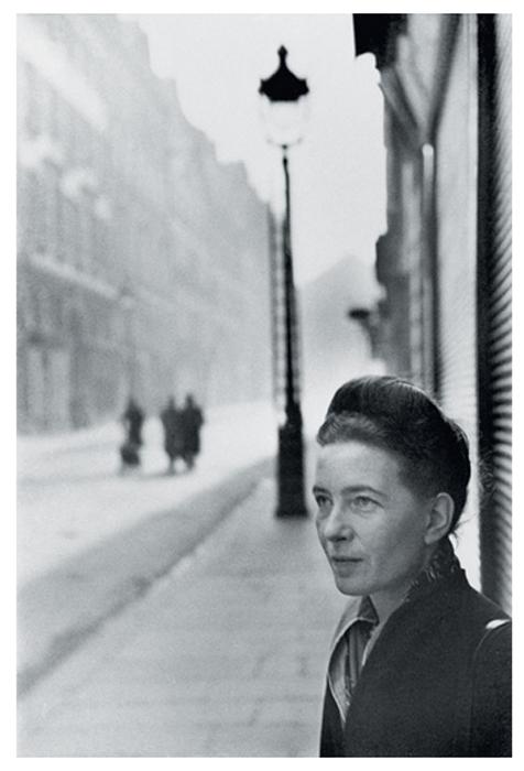 Симона де Бовуар, Париж, Франция, 1947г.