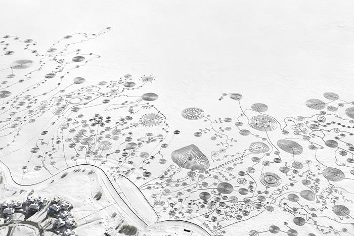 Снежный дизайн от Сони Хинрихсен.