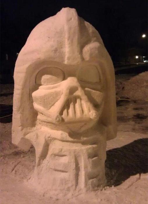 В снежном вариант Дарт Вейдер не страшен.
