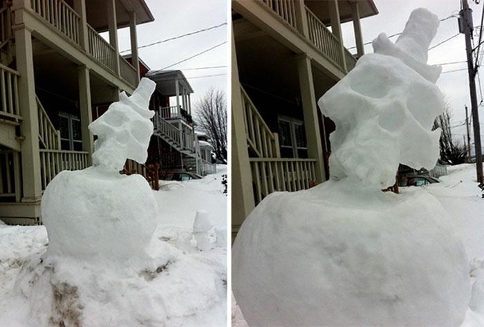 Стильный снежный череп.