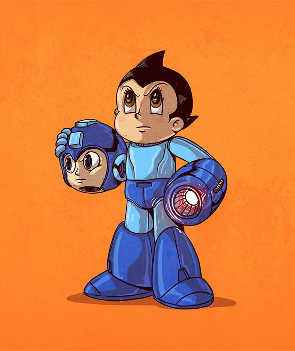 Mega Man  без маски. Автор: Alex Solis.