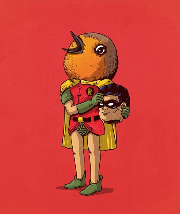 Робин  без маски.