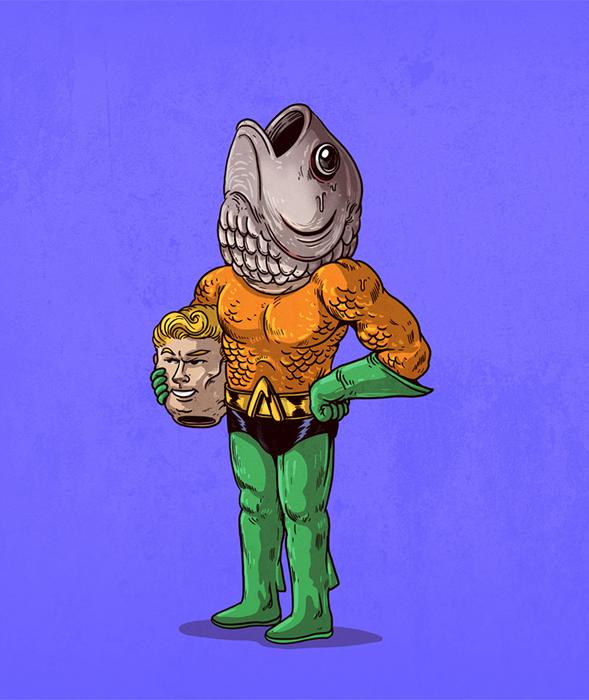 Аквамэн без маски. Автор: Alex Solis.