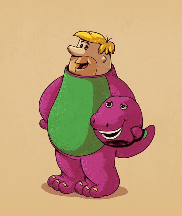 Барни без маски.