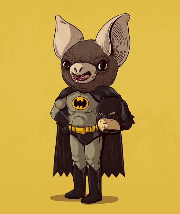 Бетмен  без маски.