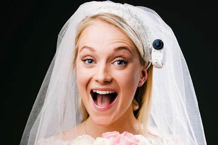 Уникальный ракурс для видеосъемки свадьбы.