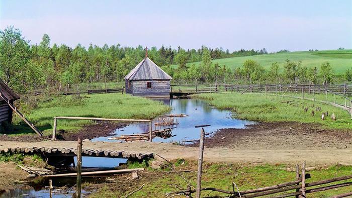 Фотография 1910 года, сделанная Сергеем Прокудиным-Горским. Исток Волги.
