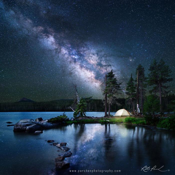 Небо, полное звезд. Фото: Rick Parchen.